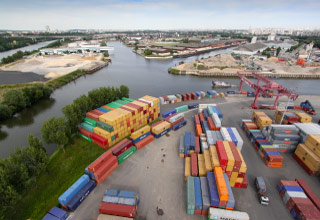 Port of Gennevilliers, in Paris